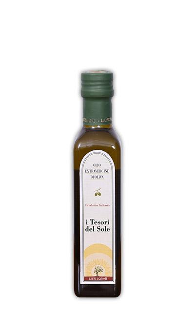 olio extra vergine di oliva bottiglia 0,25 i tesori del sole