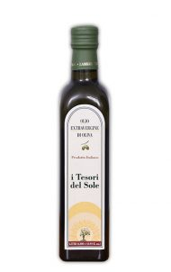 olio extra vergine di oliva bottiglia 0,50 i tesori del sole