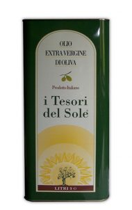 Olio extra vergine di oliva lattina 5 litri i tesori del sole